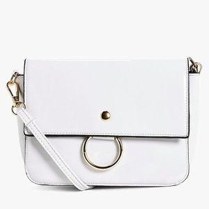White Patent Cross Body Bag